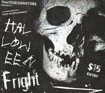 个性骨头人背景海报PSD素材