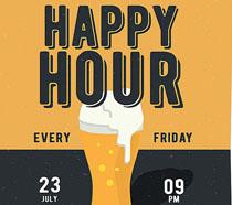 派对啤酒展示海报PSD素材
