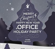 圣诞快乐宣传封面海报PSD素材