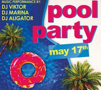 游泳池封面海报PSD素材