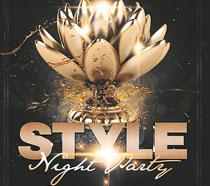 时尚派对金色广告PSD素材
