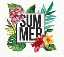 暑期节宣传单模板海报PSD素材