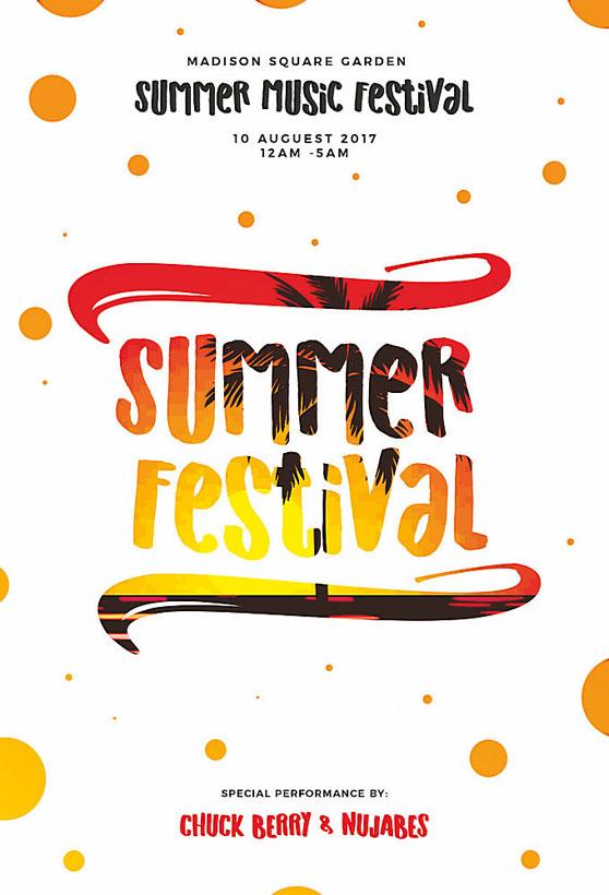 夏天字母宣传单海报PSD素材