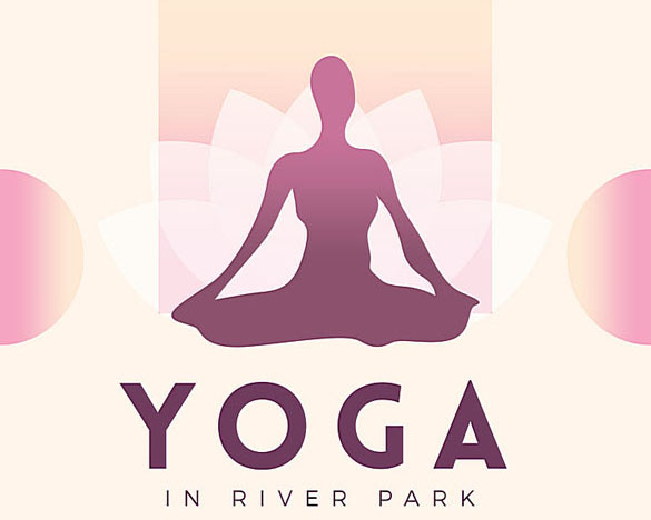 動感女性瑜伽廣告PSD素材