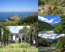 綠草山水風光攝影高清圖片