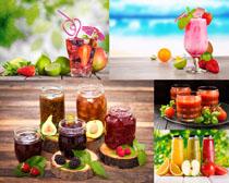 新鲜水果汁摄影高清图片