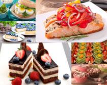 蛋糕面包水果摄影高清图片