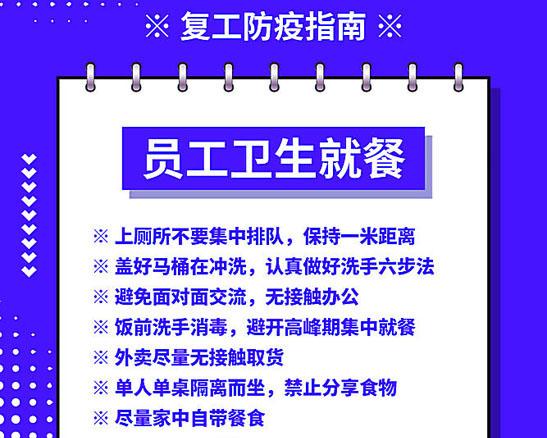 复工防疫指南宣传海报PSD素材