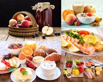 水果早餐食物展示拍摄高清图片