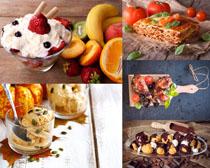 冰淇淋与食物摄影高清图片