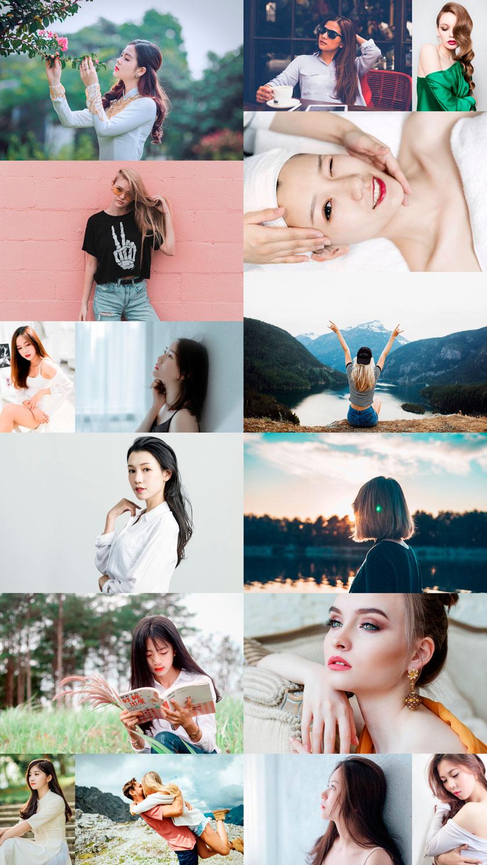 15張國內外小清新美女攝影圖片