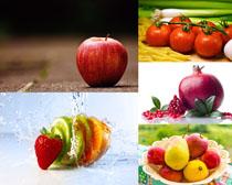 西红柿石榴苹果草莓摄影高清图片