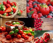 红色水果西红柿草莓摄影高清图片