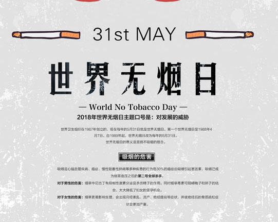 无烟宣传日广告PSD素材