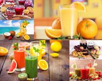 新鮮水果果汁拍攝高清圖片