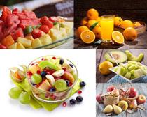 水果拼盤展示攝影高清圖片