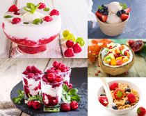 冰淇淋水果派對攝影高清圖片