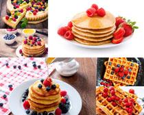 早餐面餅食物攝影高清圖片