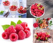 覆盆子草莓水果攝影高清圖片