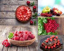 草莓覆盆子水果拍攝高清圖片