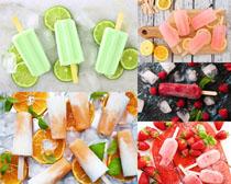 色彩水果冰棒拍攝高清圖片