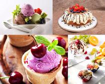水果冰淇淋甜品攝影高清圖片