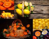 橙子檸檬水果拍攝高清圖片
