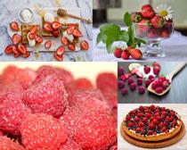 草莓覆盆子展示拍攝高清圖片