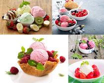 色彩冰淇淋水果拍攝高清圖片