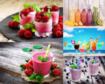水果果汁色彩攝影高清圖片