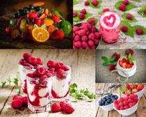 藍莓覆盆子紅色水果攝影高清圖片