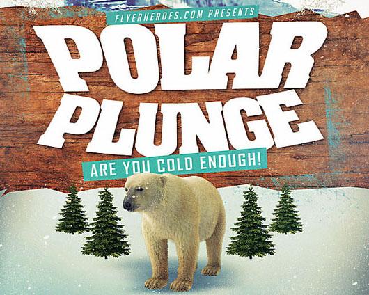 北极熊封面广告PSD素材
