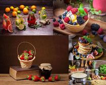 水果與面餅食物攝影高清圖片