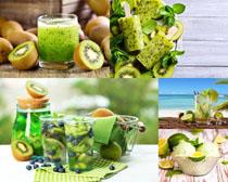 綠色水果獼猴桃攝影高清圖片
