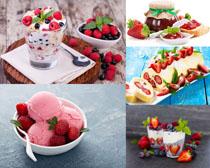 冰淇淋蛋糕水果攝影高清圖片