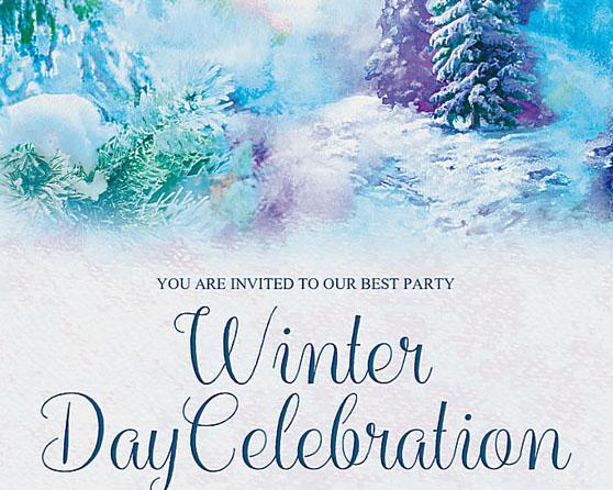 欧美雪景绘画广告PSD素材