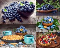 藍莓水果拍攝高清圖片