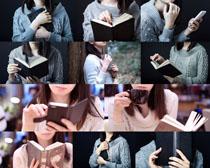 毛線衣學生美女攝影高清圖片