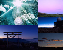 夜色天空美景攝影高清圖片