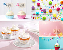 奶油小蛋糕摄影高清图片