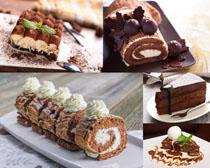 甜品慕斯蛋糕早餐摄影高清图片