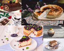 巧克力蓝莓蛋糕摄影高清图片