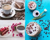 咖啡蛋糕美食摄影高清图片