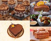 巧克力甜品早餐蛋糕摄影高清图片