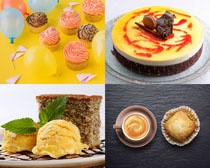 奶油甜品蛋糕摄影高清图片