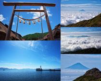美麗的藍天白云風景攝影高清圖片