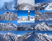 高山山峰雪山風景拍攝高清圖片