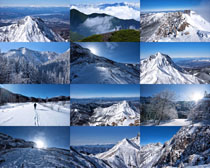 雪山高山登山风光摄影高清图片