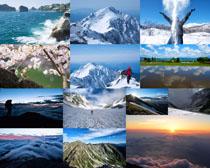 美麗山峰風光拍攝高清圖片