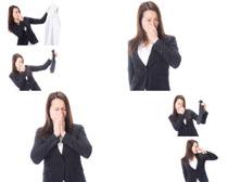 職業女性難聞味道攝影高清圖片